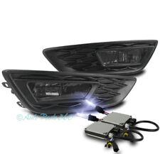 15-17 FORD FOCUS S SE BUMPER DRIVING FOG LIGHT LAMP SMOKE W/10K XENON HID+BEZEL