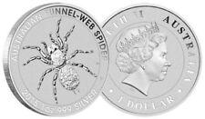 2015 1 oz Silver Australian Funnel-Web Spider No Reserve