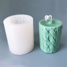 Wool Line Candle Mold Cylinder Silicone Candle Molds Craft Plaster Soap Mold