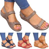 Women Sandals Anti-Slip Summer Casual Orthopedic Open Toe Flats Beach Shoes Size