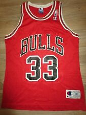 Scottie Pippen #33 Chicago Bulls NBA Finals Champion Jersey 40