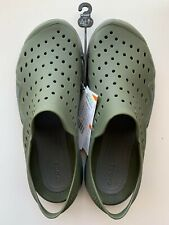CROCS MEN'S SWIFTWATER WAVE SANDALS GREEN SIZE 8 ICONIC COMFORT