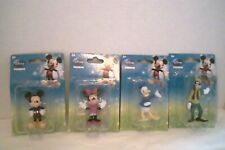 2 Sets of 4 Disney 3 inch figurine- Micky-Minnie-Goofy-Donald duck