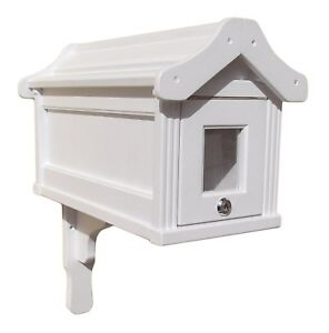 US Mailbox American Design Wooden Letterbox Postbox Outdoor Handcrafted White