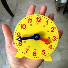 4 Inch Montessori Student Learning Clock Time Teacher Gear Clock Toy 12/24 Hour