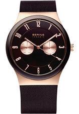 Bering Mens 32139-265 Ceramic Brown Dial Brown Stainless Steel Mesh Band Watch