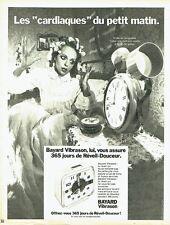 PUBLICITE ADVERTISING 0117  1971  réveil Bayard Vibrason