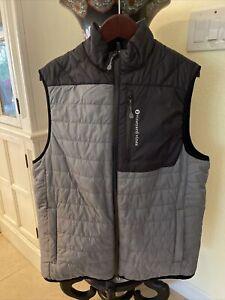 Vineyard Vines Performance Mens Puffer Vest Size medium Black/ Gray