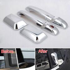 For 07-16 Jeep Compass Chrome ABS Car Auto Door Handle Cover Catch Molding Trim