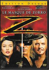 DVD ZONE 2--LE MASQUE DE ZORRO--BANDERAS/ZETA JONES/HOPKINS/CAMPBELL
