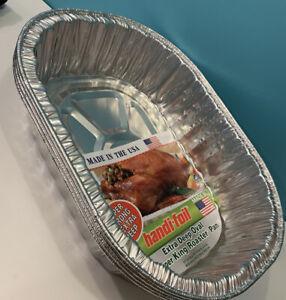 4 Disposable Aluminum Turkey Roasting Pans 17x12.5x4 Heavy Duty Deep Roaster Pan