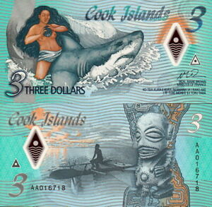 Iles Cook - Cook Island - 3 Dollars 2021 Commémoratives Polymer Fds UNC