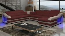 LEDERSOFA LED LORD C U-FORM ECKE SOFA LED ECKCOUCH LORD C ECKSOFA COUCH LORD