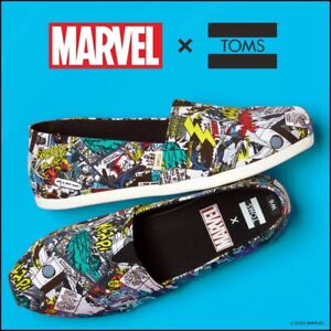TOMS Alpargata Marvel Print Slip-On Sneaker Women's Size 8.5