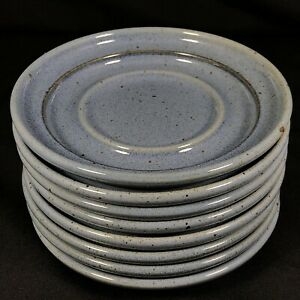 """Set of 8 Dansk NIELSTONE Blue Saucers 6 7/8"""" Diameter Cups Soup Bowls Plants"""