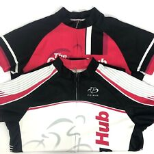 2 Primal The Cycle Hub Pink White Cycling Jersey Shirt Women Size XL