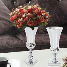 TOP! Large Stunning Silver Iron Luxury Flower Vase Urn Wedding Table Centrepiece