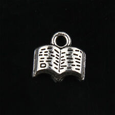 40pcs Tibetan Silver Book Charms Pendant for Jewelry 11mm ABF120