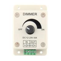 PWM Dimmer Controller LED Light Lamp Strip Adjustable Brightness 12V-24V 8A