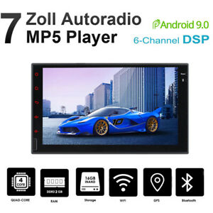 """7"""" Android 9.0 2+16G Autoradio 2 DIN MP5 Player GPS Navigation 6-CH DSP RDS Wifi"""