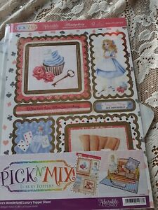 HUNKYDORY A4 ADORABLE SCORABLE LUXURY TOPPER ALICE'S WONDERLAND BRAND NEW