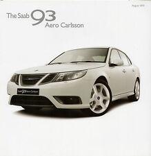 Saab 9-3 Aero Carlsson 2.8 V6 T Saloon Limited Edition 2010 UK Market Brochure