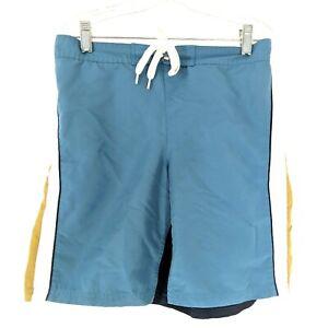 Tumbleweed Swimsuit Swim Trunks Boys 10 Blue Green