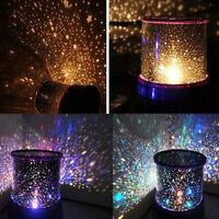 CHILDRENS STAR PROJECTION NIGHT LIGHT SKY LED PROJECTOR MOOD LAMP KIDS BEDROOM