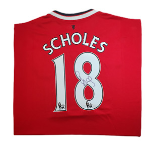 Paul Scholes #18 Signed Manchester United Shirt
