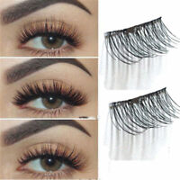 4Pcs/set Magnetic 3D False Eyelashes Long Real Mink Natural Fake Eye Lashes