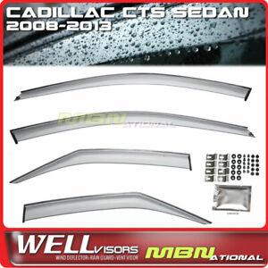 Wellvisors Rain Sun Wind Deflectors Sedan For Cadillac CTS 08-13 Window Visors