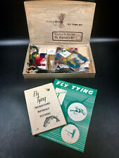 Vintage Fly Tying Beginner's Kit Cortland Supplies Manuals Feathers Tools