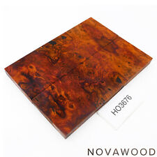 ROTES AMBOINA MASER MESSER SCHALENPAAR HOLZ SCALES AMBOYNA BURL SCALES HO3676