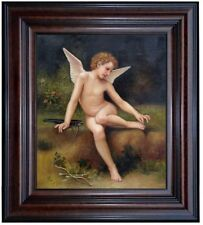 Framed Hand Painted Oil Painting, Repro Bouguereau L'Amour A L'Epine, 20x24in