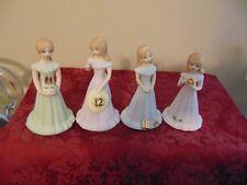 1982 Enesco Growing Up Birthday Girls Figurine Age 9-12 Figurine Statue Topper