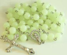 Glow in the dark Rosary Necklace extra long Catholic Religious wall room Rosary