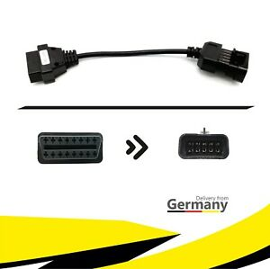 ★ PKW Diagnose Adapter Stecker Kabel 16Pin OBD-2 auf 10Pin OBD-1 für OPEL KFZ ★