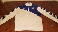 Real Madrid Adidas Anthem Full-Zip Jacket White & Blue Futbol Football Soccer