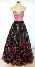 Party Time Black Pink Ball Prom Formal Gown 12 - $438 NWT