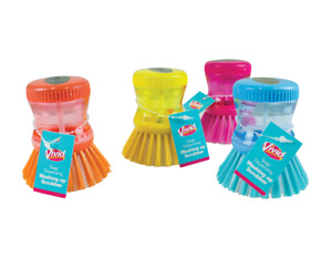SOAP DISPENSING WASHING UP SCRUBBER kitchen  Brush,Dishes Cleaning Scouring Pad