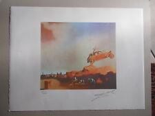 """Lithographie , Salvador Dali , """" Apparition de Delft  """" signée et numérotée"""