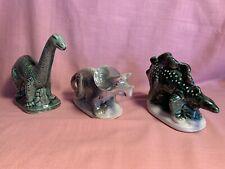 Set Of 3 Dinosaur Figurines: Brontosaurus,Stegosaurus & Triceratops -Brazil