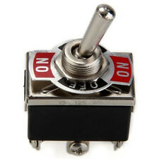 Dash Light On/Off Car Dpdt Heavy Duty Metal Tip Toggle Flick Switch 12V