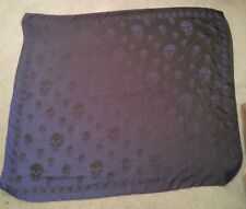 Alexander McQueen Silk Skull Scarf Two Toned Blue and Navy Blue