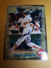 Frank Robinson Autographed card/AL & NL MVP