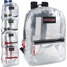 New Trailmaker Classic 17 Inch Clear Backpack Black, Red, Green Blue or Charcoal