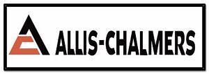 "ALLIS CHALMERS TRIANGLE LOGO 36"" HEAVY DUTY USA MADE METAL FARM ADVERTISING SIGN"