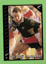 1995 NEW ZEALAND  ALL BLACKS RUGBY UNION CARD  #18  BLAIR  LARSEN