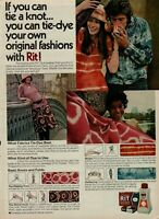 1971 All Purpose RIT Concentrated Tint & Liquid Dye 35 Colors Tie-Dye Fashion Ad