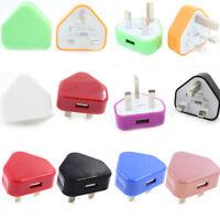 UK Mains Wall 3 Pin USB Plug Adaptor Charger Power USB Ports for Phones Tablets